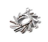 Elementewirbel Anhänger + Damen Kordelkette 925 Silber | Ein Schmuckstück für die Seele_