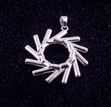 Elementewirbel Anhänger + Herren diamantierte S-Panzerkette 925 Silber | Ein Schmuckstück für die Seele_