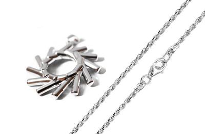 Elementewirbel Anhänger + Damen Kordelkette 925 Silber | Ein Schmuckstück für die Seele